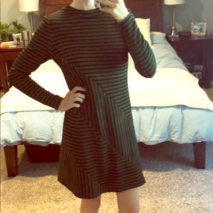 Anthropologie Dresses - Green and black anthro  dress.